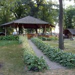 Gazebo kitchen for cabiners & tent campers