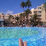 Lovely big pool at Hotel Garbi