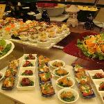 Dinner buffet at the hotel restaurant