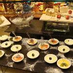 Dinner buffet at the hotel restaurant