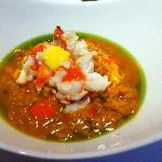 Saffron creamy rice with lobster