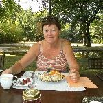 ontbijt in het park