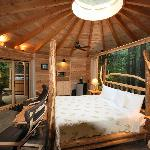 Bear Cabin Bed and wall mural