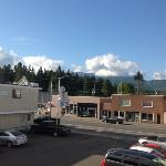 view from the motel