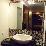 Vanity area in executive suite