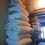 lotsa fresh towels.