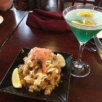 Calamari and Beach Blanket Martini