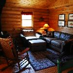 Living room at the Saphire Cabin, Rock Creek, Mt.