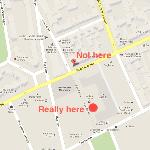 Google maps is wrong. This is where it really is.