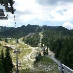 A ski center,used for hiking in the summer