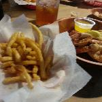 Fries and Crab