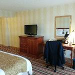 Bedroom TV and Sitting Desk