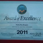 Award of Excellence 2011