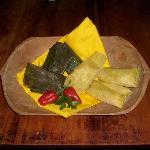 Plato típico otavaleño, tamales y humitas