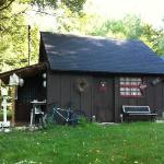 camping cabin at Gray's log house