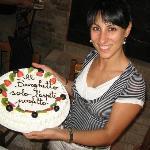 ed eccomi in compagnia della torta per festeggiare