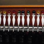 The many colored tap handles at Marble
