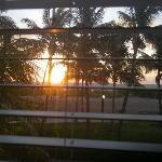 meravigliosa vista dalla finestra della camera