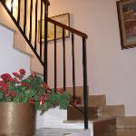 Stairs up to our landing
