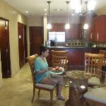 dining area/kitchen in our room