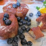 East India French Toast with fresh blueberries
