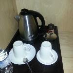 Meager coffee setup (no creamer)