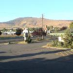 Looking NE across the street from in front of our room at the fairgrounds.