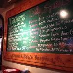 Extensive list of beers