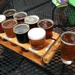 A beer sampler