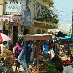 Market in Savanna La Mar (on the way to the falls)