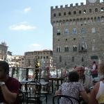 View from Caffetteria Letizia patio  on Via Vacchereccia, Florence