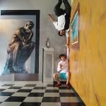 my son + friend at Art in Paradise Museum on Pattaya 2nd