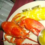 One pound lobster with corn on the cob