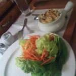 Salad n chicken pot pie