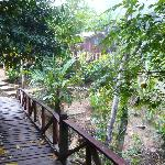 Pont pour accès au village