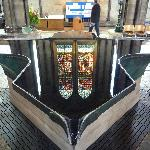 water feature in Salisbury Cathedral
