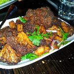 Fried cauliflower side dish