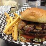 Peanut Butter Bacon Burger!!!!