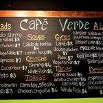 Cafe Verde Menu