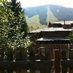 back window view to ski area
