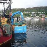 Fishing boat outside the Struan
