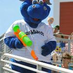 """Blue Wahoos mascot """"Kazoo"""""""