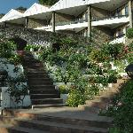 Entrance to Hotel from garden