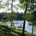 View of lake outside of cabin 12