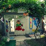 The nice little garden area :)