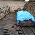 suite Saone: il terrazzo con Jacuzzi