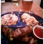 Sirloin skewers and IPA