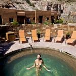 The private Kiva Pool is available to guests lodging in the suites with extending soaking hours.