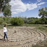 Walk the meditative labyrinth in the cottonwood filled meadow near the river.