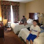 clean, spacious room